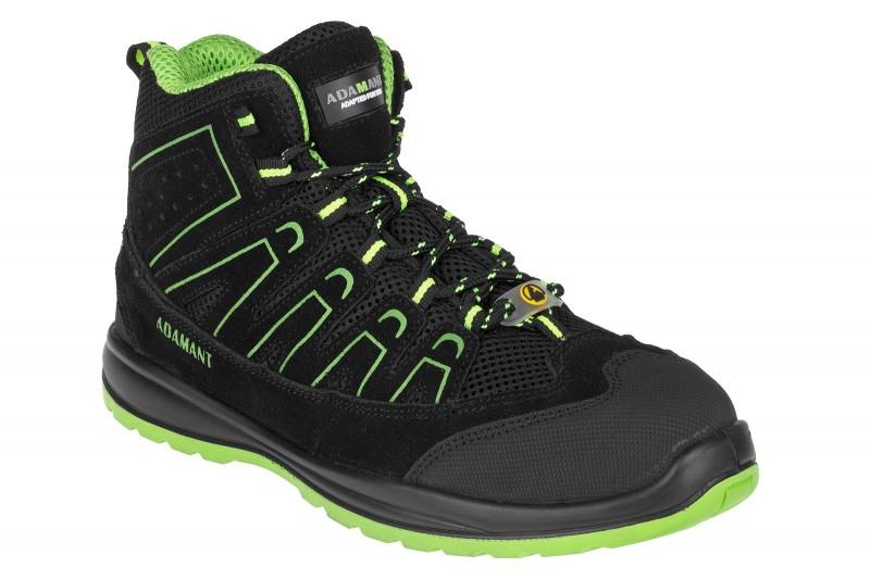 ADAMANT ALEGRO S1P ESD GREEN HIGH Bezpečnostná obuv