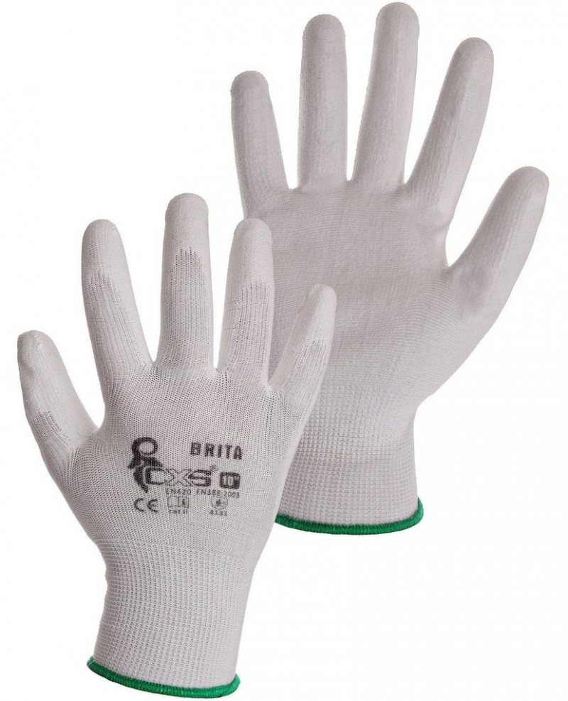 CXS BRITA Pracovné rukavice, polomáčané