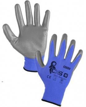 CANIS CERRO - Pracovné rukavice, polomáčané