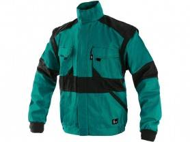 CXS LUXY HUGO Pánska zimná blúza, zeleno/čierna